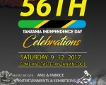 56th Tanzania Independence Day Celebrations  SATURDAY 09.12.2017 TIME 1730HRS
